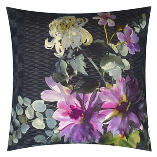Shalimar Garden Amethyst Decorative Pillow