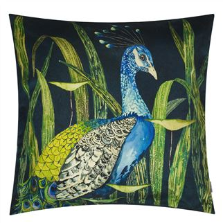 Arjuna Leaf Viridian Decorative Pillow