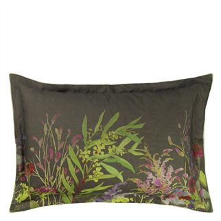 Indian Sunflower Graphite Queen Sham