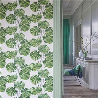 Brahmi Teal Wallpaper | Designers Guild