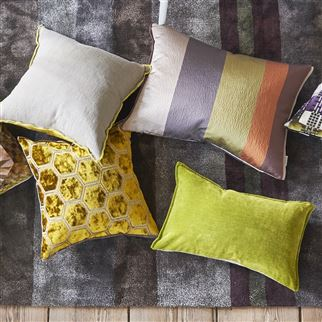 Rivoli Lime Decorative Pillow | Designers Guild