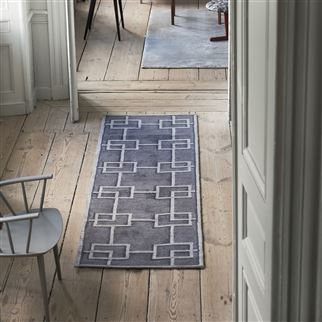 Rheinsberg Granite Patterned Dark Grey Runner | Designers Guild