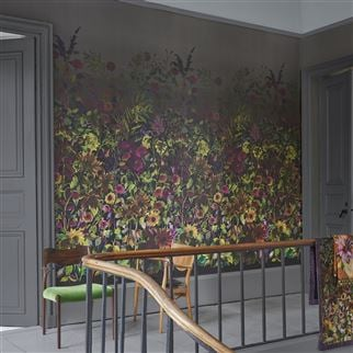 Indian Sunflower Graphite Tapete | Designers Guild
