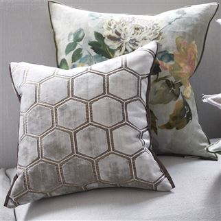 Manipur Oyster Decorative Pillow | Designers Guild