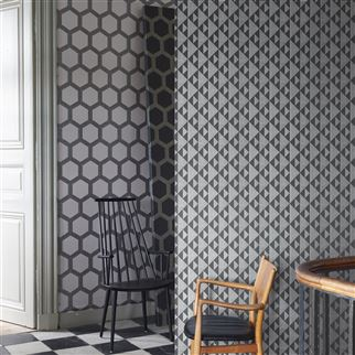 Zardozi Charcoal Wallpaper | Designers Guild