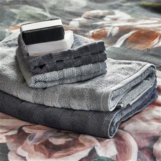 Coniston Charcoal Towels | Designers Guild