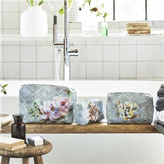 Veronnet Zinc Medium Toiletry Bag | Designers Guild