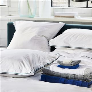 Astor Midnight & Aqua Bed Linen