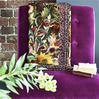 Indian Sunflower Graphite Throw | Designers Guild