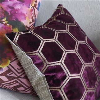 Manipur Damson Decorative Pillow | Designers Guild