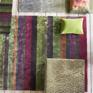 Tanchoi Berry Striped Multi-Coloured Rug | Designers Guild