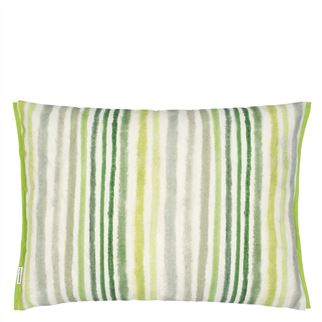 Manchu Outdoor Fuchsia Cushion - Reverse