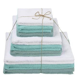 Thirlmere Aquamarine, Ocean & Bianco Towels Set