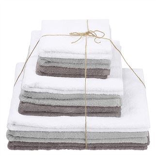 Thirlmere Pale Grey, Charcoal & Bianco Towels