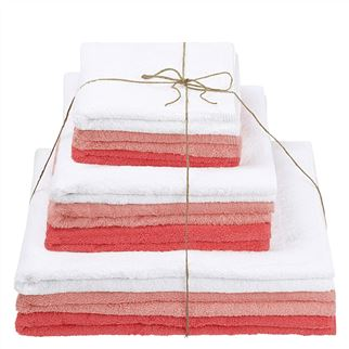 Thirlmere Blush, Watermelon & Bianco Towels
