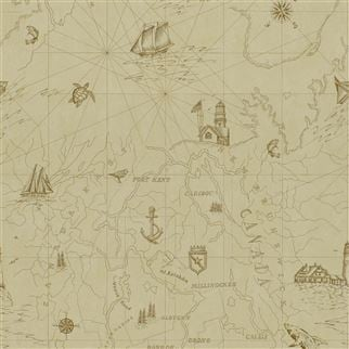 Searsport Map Parchment