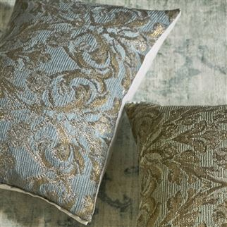 Vittoria Aqua Decorative Pillow  | Designers Guild