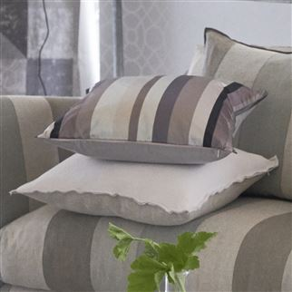 Tanchoi Graphite Decorative Pillow
