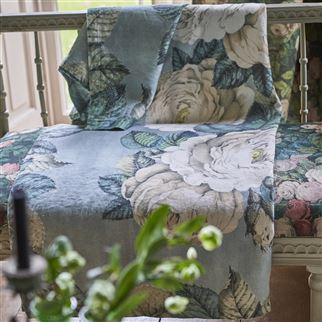 The Rose Swedish Blue Throw | John Derian
