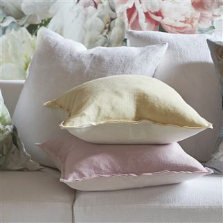 Brera Lino Straw Plain Linen Cushion | Designers Guild