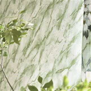 Carrara Grande Verde Wallpaper | Designers Guild