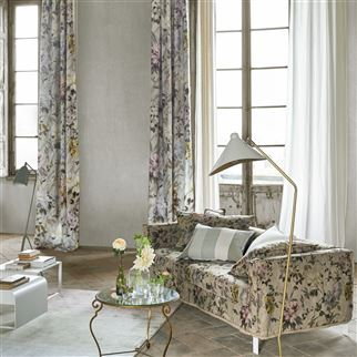 Carrara Fiore Natural Fabric | Designers Guild
