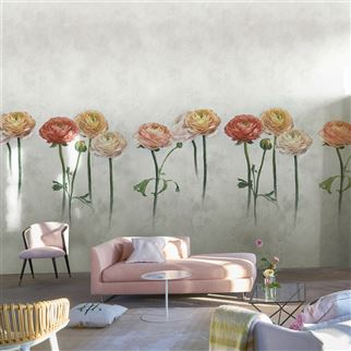 Tourangelle Ombre Zinc Wallpaper | Designers Guild