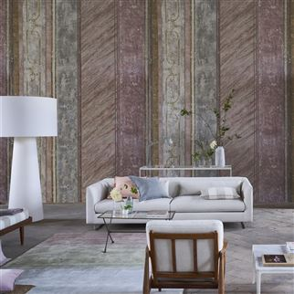 Foscari Fresco Scene 1 Tuberose Wallpaper | Designers Guild