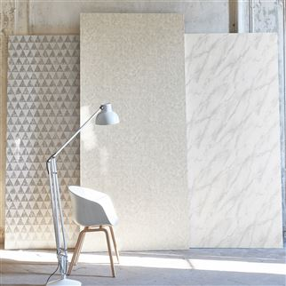 Carrara Grande Ivory Wallpaper | Designers Guild