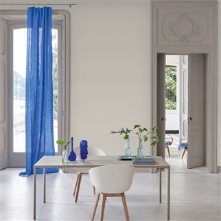 Valloire Indigo Fabric | Designers Guild Essentials