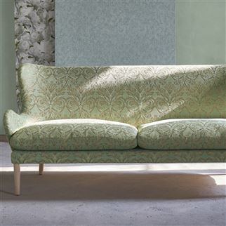 Vittoria Antique Jade Fabric | Designers Guild