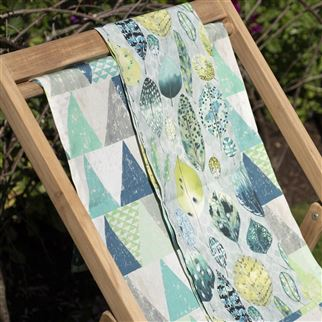 Biscayne Outdoor Emerald Fabric | Designers Guild