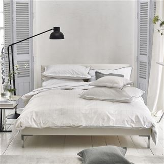 Westbourne Check Cotton Bed Linen | Designers Guild