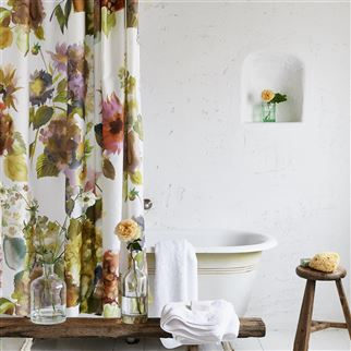 Palace Flower Birch Shower Curtain | Designers Guild
