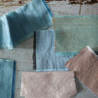 Chinon Sea Fabric | Designers Guild Essentials