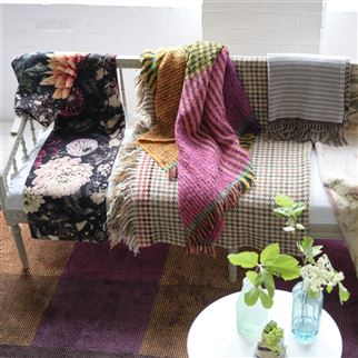 Fitzroy Saffron Throw | Designers Guild