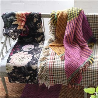 Katan Fuchsia Throw | Designers Guild