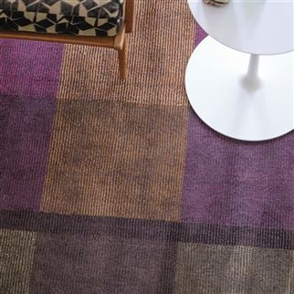 Sarang Chocolate Multicoloured Geometric Rug | Designers Guild
