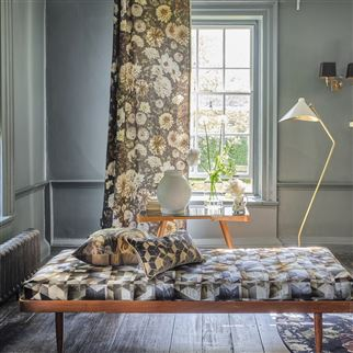 Maurier Graphite Fabric | Designers Guild
