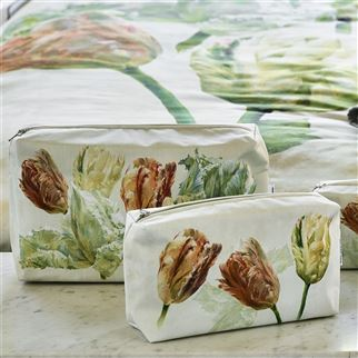 Spring Tulip Buttermilk Large Toiletry Bag | Designers Guild