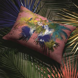 Oiseau Fleur Bourgeon Decorative Pillow | Christian Lacroix