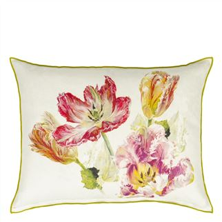 Spring Tulip Buttermilk Cushion