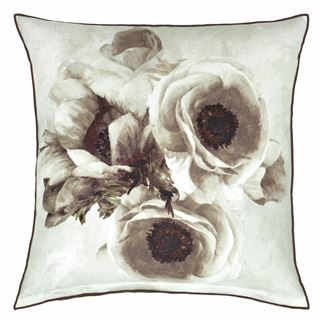 Sepia Flower Birch Cushion