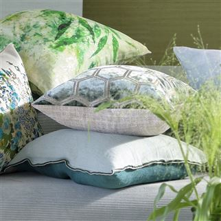 Manipur Silver Cushion | Designers Guild