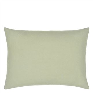 Hollyhock Celadon Cushion - Reverse