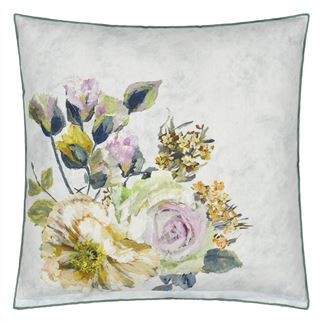 Grandiflora Rose Dusk Cushion - Reverse