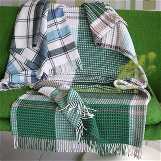 Bayswater Teal Throw | Designers Guild
