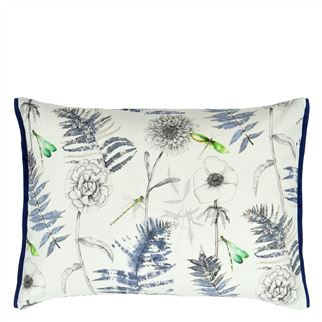 Outdoor Acanthus Indigo Cushion