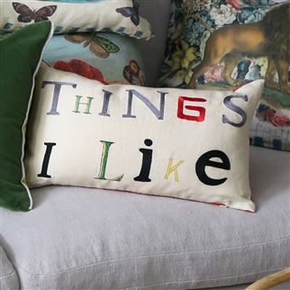 Things I Like Parchment Decorative Pillow | John Derian