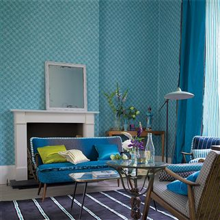 troussay - turquoise trimming | Designers Guild